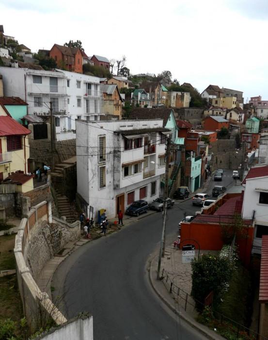 Winding streets of Tana's hills