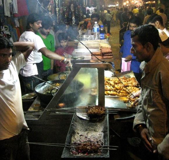Kebab (or kabob, or kabab) hustle in Paharganj