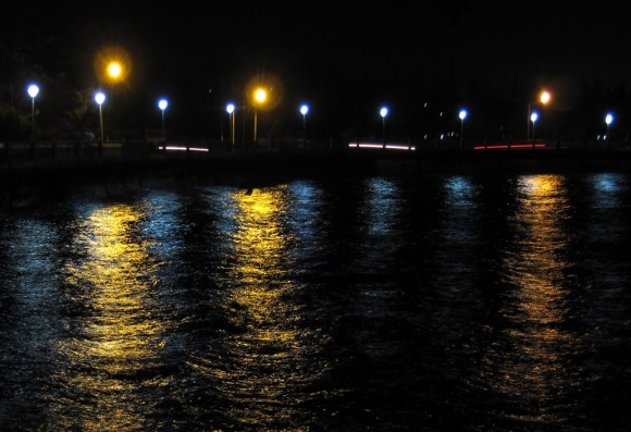 One-second exposure of the bay at Port Blair.