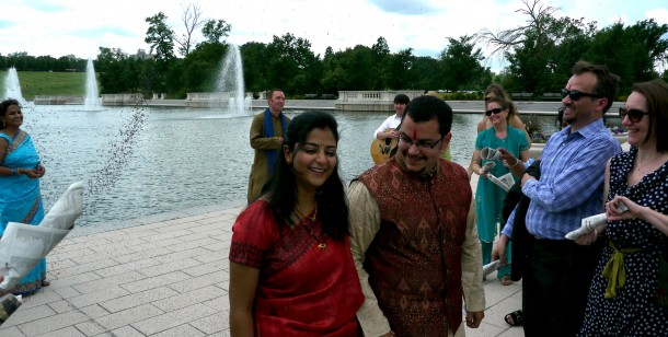 Our flash mob wedding in Forest Park
