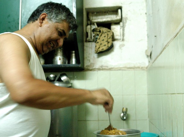 Making bhaji